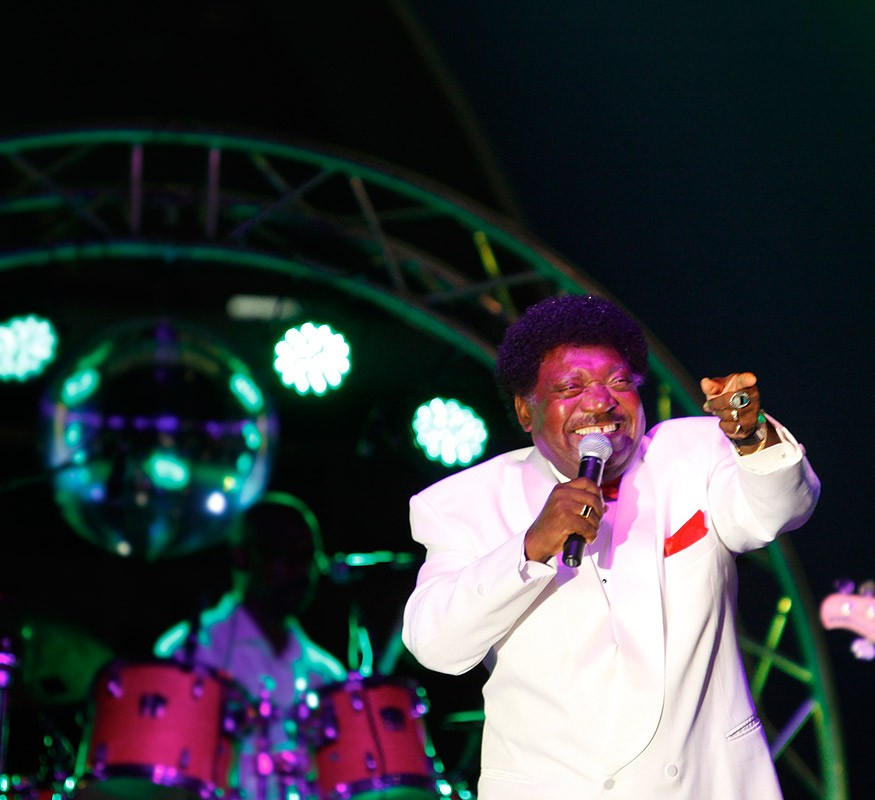 Percy Sledge in concert at the Avila Beach Hotel on Curacao