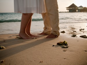 The best beach wedding shoes are no shoes