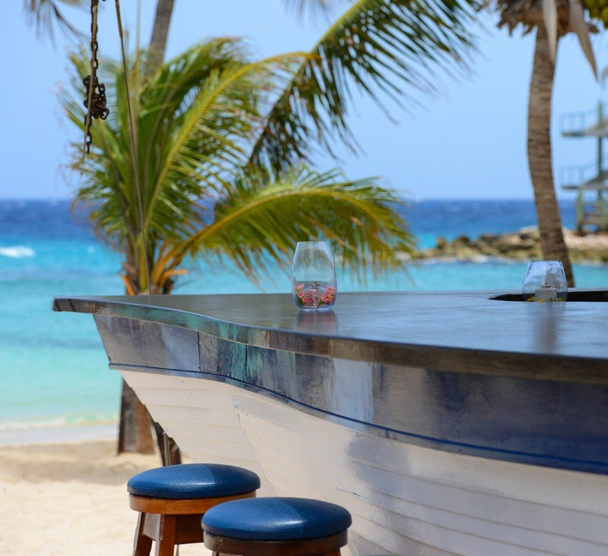 Your favorite beach bar on Curacao