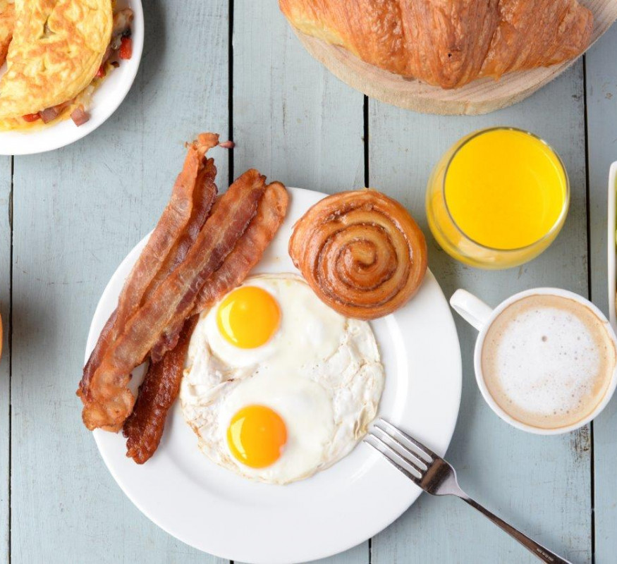 Kickstart your day with an extensive Breakfast