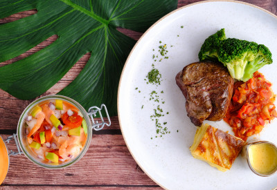 Extraordinary dishes with unique combinations, textures and palates