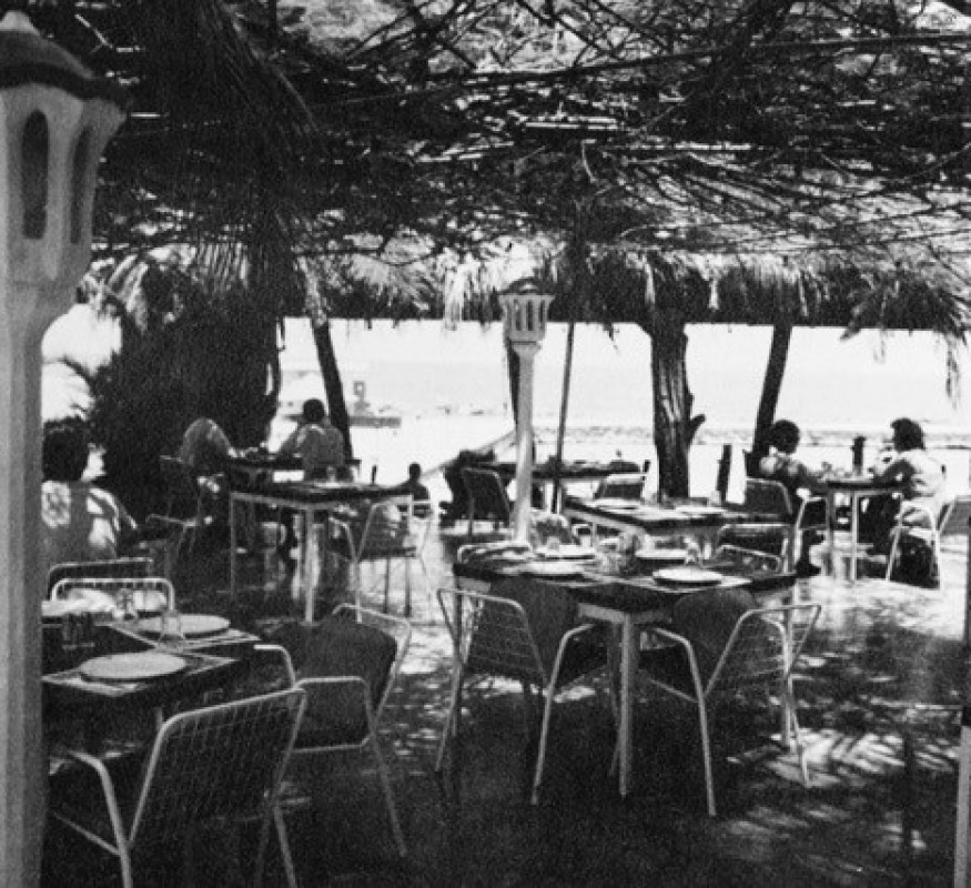 The old Belle Terrace restaurant during the 1970s