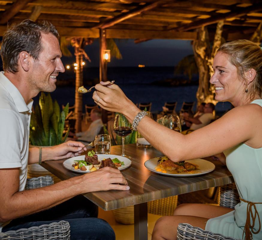 Erleben, Genießen und Probieren Sie eines der besten Restaurants auf Curacao