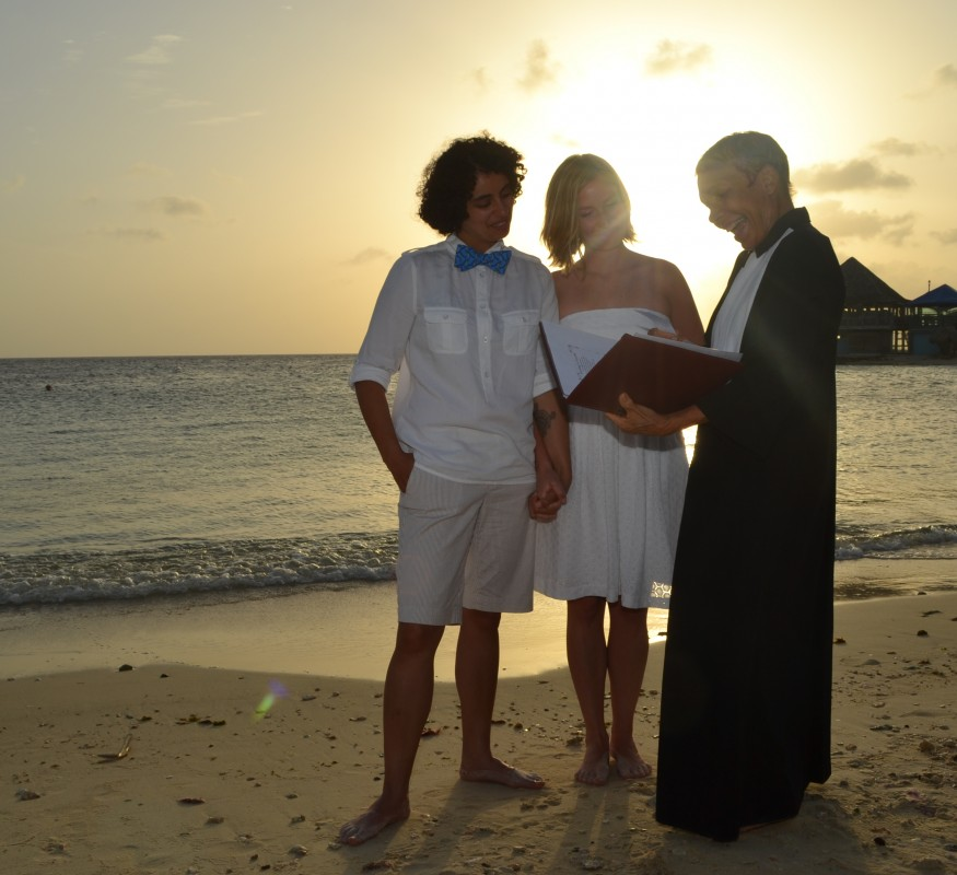 Your intimate same sex wedding ceremony at the Avila Beach Hotel on Curacao