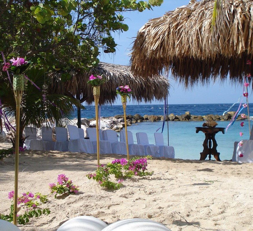 On Curacao it is okay to walk down the aisle barefoot