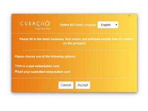 La tarjeta de inmigración de Curazao se vuelve digital