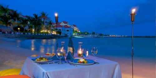 Avila Beach Hotel: cena romántica en la playa