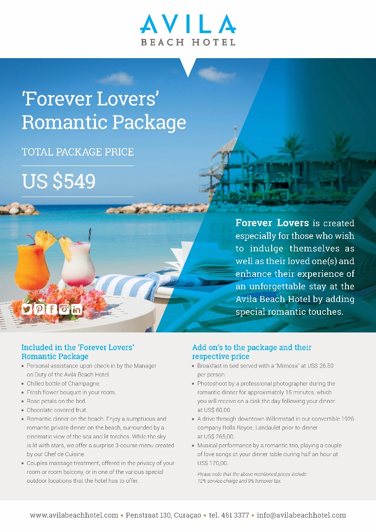 Forever lovers package - Avila Beach Hotel Curacao
